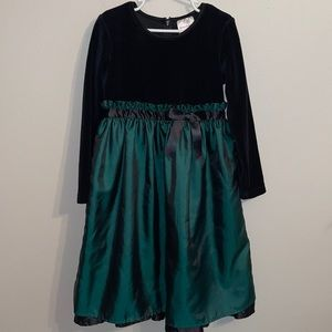 Hanna Andersson 120 6/7 girls green holiday dress
